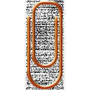 Orange Paper Clip 02