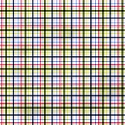 Plaid Paper 11- Pink & Navy