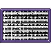 Purple Plastic Frame 4x6