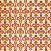 Damask Paper- Yellow & Pink 2
