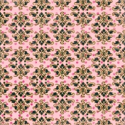 Damask 28 Paper- Pink & Navy