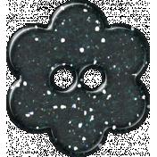 Paris Glitter Button- Navy