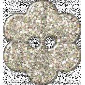 Paris Glitter Button- White