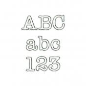 Serif Outline Metal Alpha