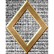 Gold Diamond Outline