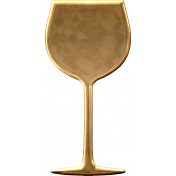 Gold Wine Glass