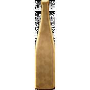 Gold Wine Bottle