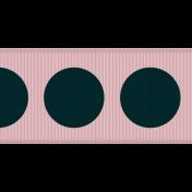 Paris Ribbon 03- Pink & Navy
