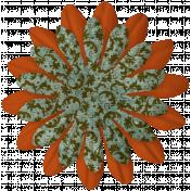 Orange/Pattern Flower