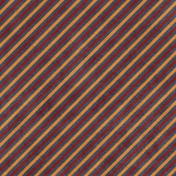 Stripes 73 Paper- Navy, Red & Orange