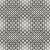 Damask 29 Paper- White & Gray