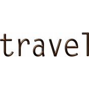 Travel Word Art