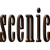 Scenic Word Art