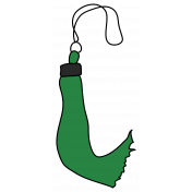 Grad Tassel- Dark Green
