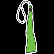 Grad Tassel- Light Green