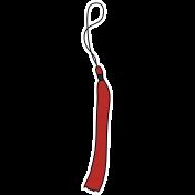 Grad Tassel- Red