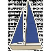 Blue Sailboat 02
