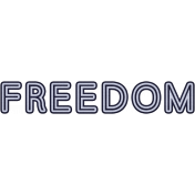 Air Force Freedom Word Art