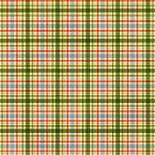 Plaid Paper- Orange, Blue & Green