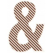 Brown & White Ampersand