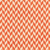 Chevron 10 Paper- Coral & White