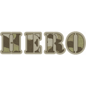 Army Hero Word Art