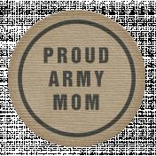 Proud Army Mom Tag