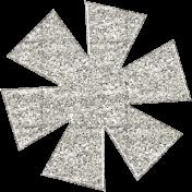 Sofia Glitter Flower- White
