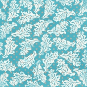 Floral 66 Paper- Blue & White