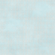 Polka Dots 11 Paper- Blue & Coral