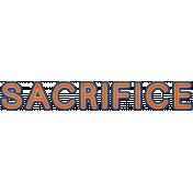 Sacrifice Word Art (Coast Guard)
