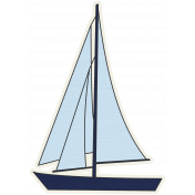 Blue Sailboat 01