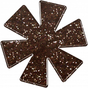 Sofia Glitter Flower- Brown