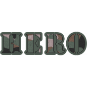 Marine Hero Word Art
