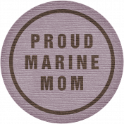 Proud Marine Mom Tag