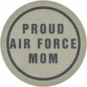 Proud Air Force Mom Tag