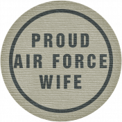 Proud Air Force Wife Tag