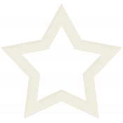 White Cardstock Star