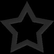 Black Cardstock Star