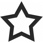 Black Cardstock Star