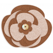 Sofia Felt Flower- Brown