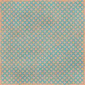 Polka Dots 23 Paper- Blue & Coral