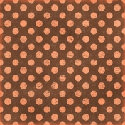 Polka Dots 35 Paper - Brown & Coral