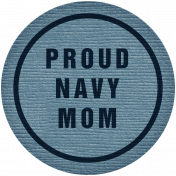 Proud Navy Mom Tag