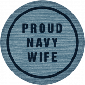 Proud Navy Wife Tag