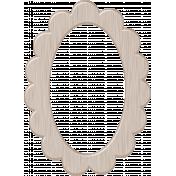 Light Wood Scalloped Oval Frame