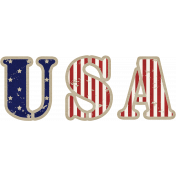 USA Word Art