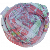 Pink Plaid Fabric Flower