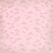 Paper 041- Butterflies- Pink