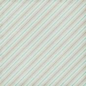 Paper 043- Stripes- Tan & Mint